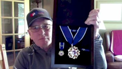 Dan Gable Shows Off His Presidential Medal Of Freedom