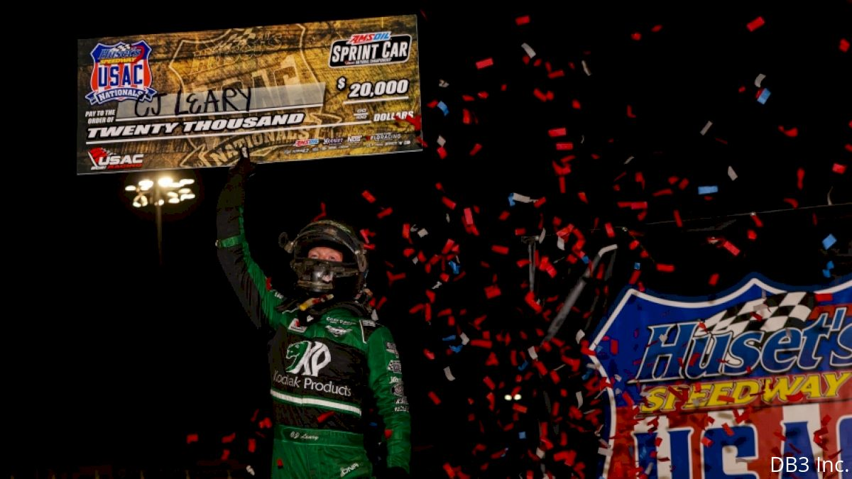 CJ Leary Makes Huset's Speedway His Personal ATM