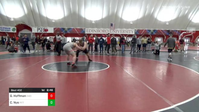 285 lbs Consolation - Gavin Hoffman, Ohio State vs Cole Nye, Pittsburgh