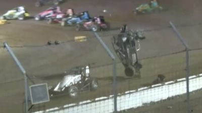 Wild Semi-Main Crash at Circle City