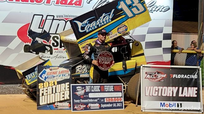 Justin Peck Cashes $20,000 Check At Lincoln Dirt Classic