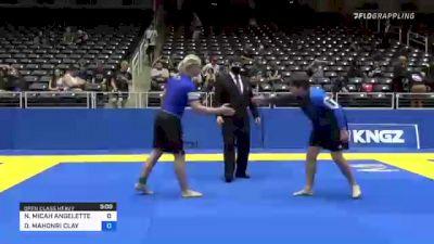 NATHAN MICAH ANGELETTE vs DAVID MAHONRI CLAY 2021 World IBJJF Jiu-Jitsu No-Gi Championship