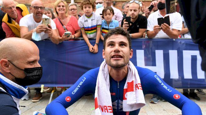 Filippo Ganna Defends Rainbow Jersey, Belgium Riders Round Out Podium