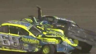 Damon Richards Dives Into A Car After Crash At Beatrice