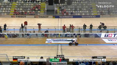 2021 UCI Track Cycling World Championship - Women's Team Sprint Final - Last Lap