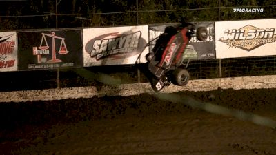 Frank Flud Reacts To Wild Crash While Leading Night One Of Giveback Classic