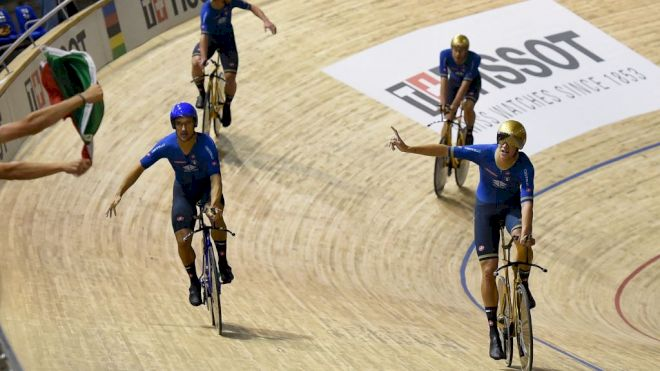 Ganna Spearheads Italy's Olympic Track Pursuit Team To World Title