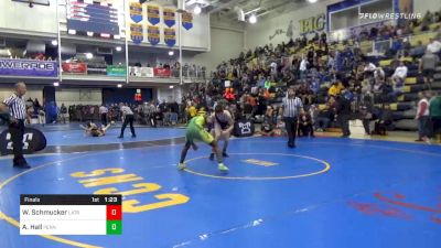 155 lbs Final - Wyatt Schmucker, Latrobe vs Adam Hall, Penn Trafford