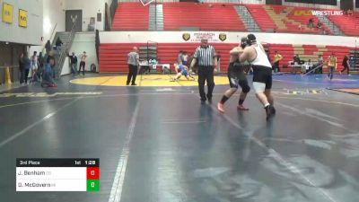 285 lbs 3rd Place - Jackson Benham, CG vs Devin McGovern, MI
