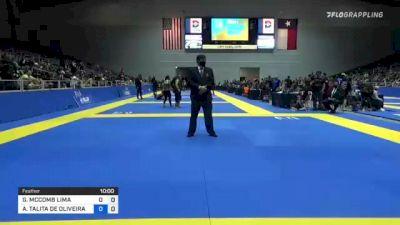 GABRIELLE MCCOMB LIMA vs ANA TALITA DE OLIVEIRA ALENCAR 2021 World IBJJF Jiu-Jitsu No-Gi Championship