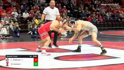 141 lbs Quarterfinal - Luke Pletcher, Ohio State vs Dylan Duncan, Illinois