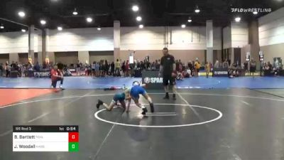 78 lbs Prelims - Braiden Bartlett, Texas vs John D. Woodall, Massachusetts