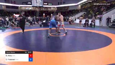 130 kg Consolation - Brandon Metz, Bison Wrestling Club vs Courtney Freeman, Marines