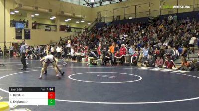 120 lbs Quarterfinal - Lucas Byrd, Cincinnati LaSalle vs TJ England, William Tennent