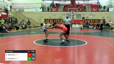 172 lbs 3rd Place - Sebastian Robinson, Williamsport vs Xavier Cushman, Spring-Ford