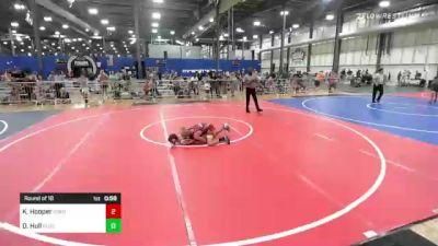 106 lbs Round Of 16 - Kamden Hooper, Odessa Wrestling vs Dawson Hull, Blue Line Training Academy