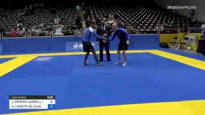 JOHN PATRICK CARROLL IV vs UBIRATAN LIONETE DA SILVA 2021 World IBJJF Jiu-Jitsu No-Gi Championship