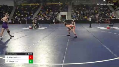 184 lbs Quarterfinal - Brock Montford, North Central College vs Shane Liegel, Loras College