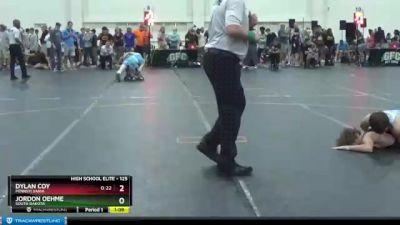 125 lbs Champ. Round 1 - Jordon Oehme, South Dakota vs Dylan Coy, Pennsylvania
