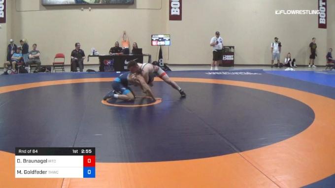 74 kg Rnd Of 64 - Danny Braunagel, IRTC vs Michael Goldfeder, Tar