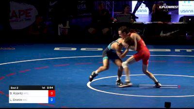 55 kg 2 Of 3 - Brady Koontz, Ohio RTC vs Liam Cronin, Hoosier Wrestling Club