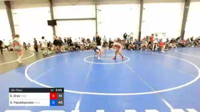 66 kg 5th Place - Ethan Gray, Team Delaware vs Sotiros Papadopoulos, Doughboy Blue