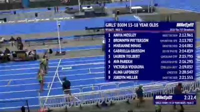 Youth Girls' 800m, Finals 1 - Age 13-14