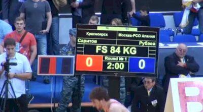 84 lbs semi-finals Albert Saritov vs. George Rubaev