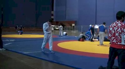 Ureshev and Saritov Warming Up Before Finals