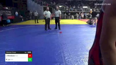 113 lbs Quarterfinal - Rose Le, High Performance Wrestling & Athletics vs Isa-Bella Mendoza, Missouri