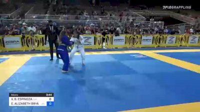 VICTORIA B. ESPINOZA vs EFFIE ALIZABETH BRYANT 2021 Pan Kids Jiu-Jitsu IBJJF Championship