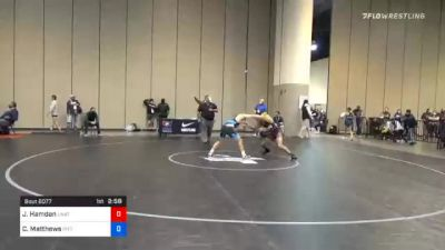 61 kg Prelims - Jordan Hamdan, Unattached vs Cole Matthews, Pittsburgh Wrestling Club