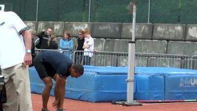 Ashton Eaton High Jump Highlights - 2012 Harry Jerome Classic