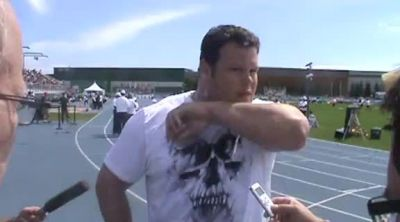 Gold medal hopeful Dylan Armstrong after another victory 2012 Donovan Bailey Invitational