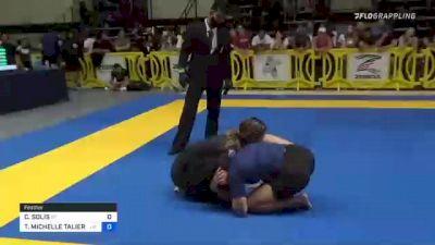 CHANISE SOLIS vs TIFFANY MICHELLE TALIERCIO 2021 Pan IBJJF Jiu-Jitsu No-Gi Championship