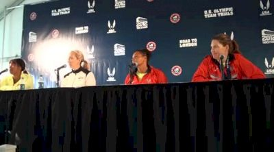 Stephanie Brown-Trafton, Aretha Thurmond, and Suzy Powell on being veterans in track at 2012 US Olympic Trials