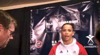 Alicia Sacramone Enjoying Olympic Trials