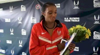 LaShinda Demus making 400H team after waiting 8 years at 2012 US Olympic Trials