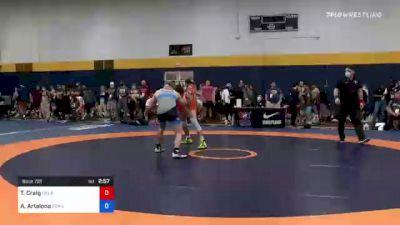 74 kg Consi Of 16 #2 - Tre'Vaughn Craig, Oklahoma vs Anthony Artalona, Pennsylvania RTC