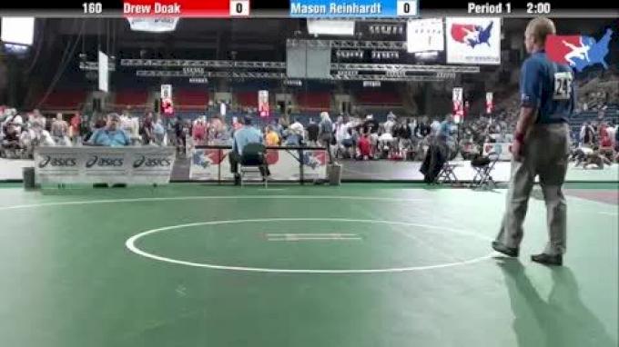 160 lbs round-6 Drew Doak Pennsylvania vs  Mason Reinhardt Wisconsin