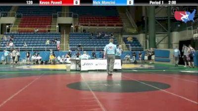 120 lbs round-3 Kevon Powell Illinois vs. Nick Mancini Ohio