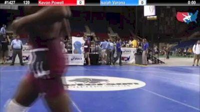 120 lbs rr1 Kevon Powell Illinois vs. Isaiah Varona Florida