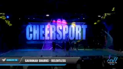 Savannah Sharks - Relentless [2021 L6 Senior - XSmall Day 2] 2021 CHEERSPORT National Cheerleading Championship