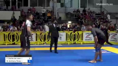 Francisco Carlos De Leon vs Michael Anthony Perez 2021 Pan IBJJF Jiu-Jitsu No-Gi Championship