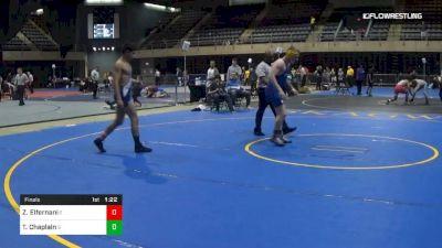150 lbs Final - Zak Elfernani, E vs Tanner Chaplain, S