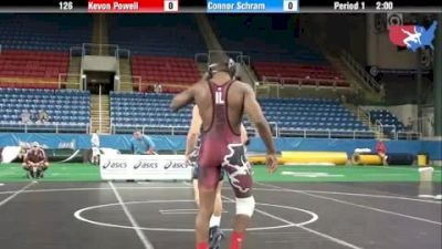 126 lbs round-6 Kevon Powell Illinois vs. Connor Schram Pennsylvania