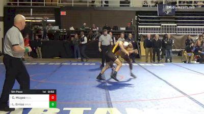 138 lbs 5th Place - Damon Mcgee, Bullis School vs Luca Errico, Brunswick School