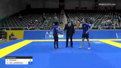 RONTRICE THOMAS vs KANDACE LEE LANDRENEAU 2021 World IBJJF Jiu-Jitsu No-Gi Championship