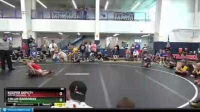 68 lbs Round 7 (8 Team) - Kooper Deputy, Aces Of Diamonds vs Collin Bagdonas, Team Ohio