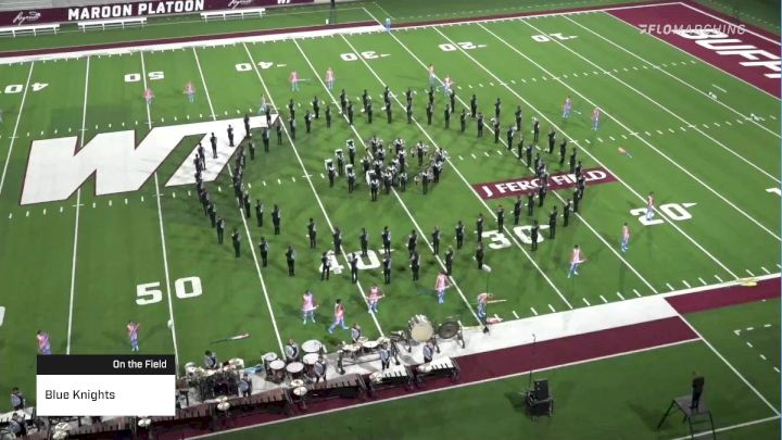 Blue Knights at 2021 DCI West Texas Drums